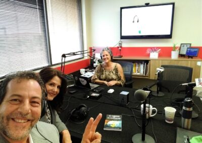 Don and Dina with Business RadioX Podcast Host Karen Nowicki