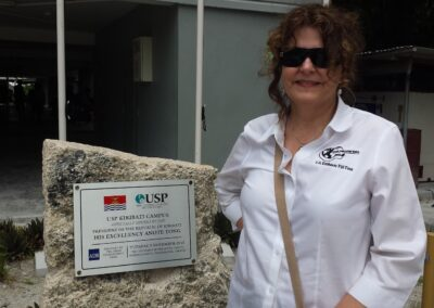 Dr. Dina Speaking @ University South Pacific Kiribati